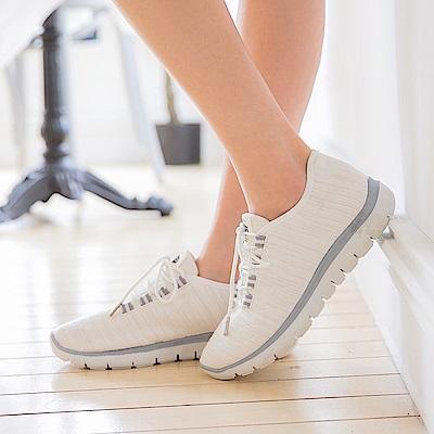 台灣製造.高彈迴力~繡線造型透氣減震運動休閒鞋.3色-OB大尺碼