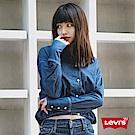 Levis 女款 翻領襯衫 下擺彈力收口 短版修身 建議搭配高腰褲