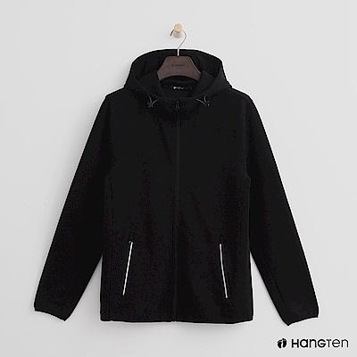 Hang Ten - 男裝 - 抽繩立領連帽外套 - 黑
