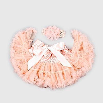 日安朵朵 女嬰童雪紡蓬蓬裙 - 玫瑰石英