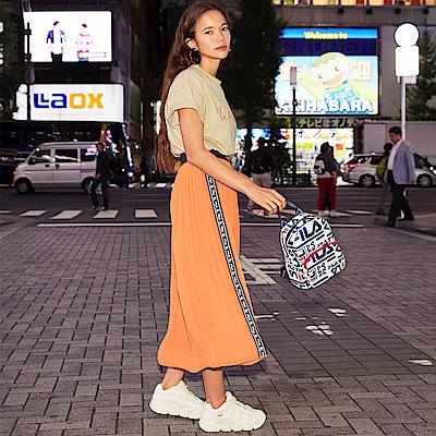 FILA #日潮攻略首部曲 女百褶裙-桔色 5SKU-1427-OR