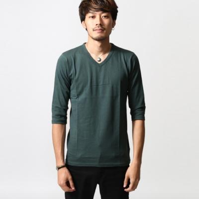 彈性舒適6分袖T恤素Tee(10色) ZIP日本男裝