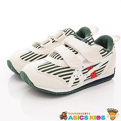 亞瑟士SUKU2機能鞋 經典護足款 MON87-300白綠(中小童段)