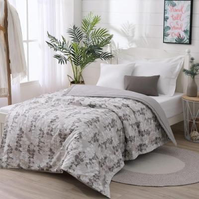LAMINA 精梳棉涼被4.5X6.5尺-自然葉風(灰)