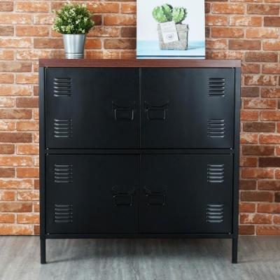 Homelike 米特工業風鋼製四門置物櫃-免組裝