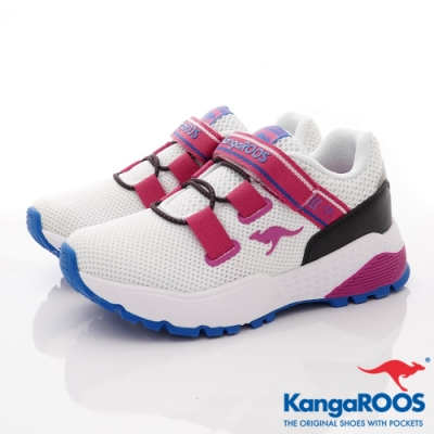 KangaROOS ROADSTER 腳踏車鞋-01269白粉(中大童段)