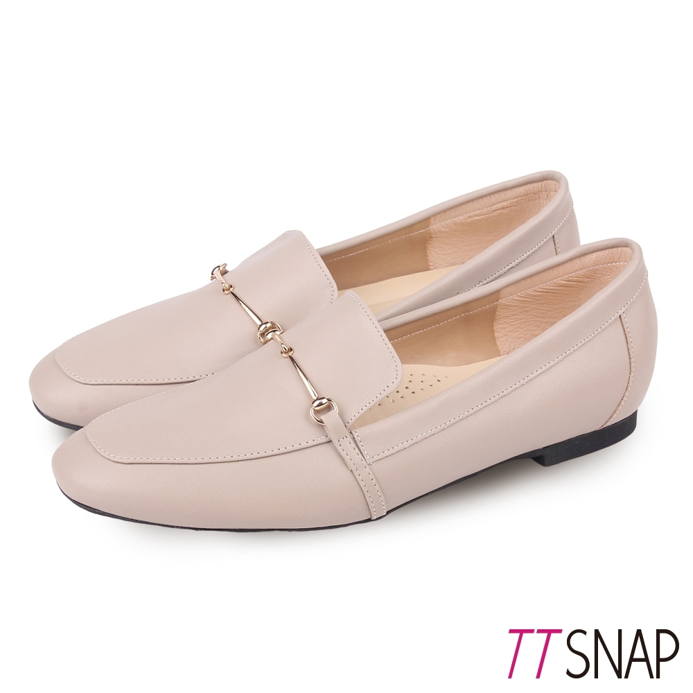 TTSNAP樂福鞋-MIT細絲金屬釦環柔軟休閒鞋 灰
