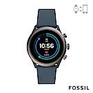 FOSSIL SPORT 運動智能錶-43MM 灰藍色矽膠 FTW4021