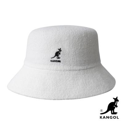 KANGOL-BERMUDA BUCKET 漁夫帽-白色