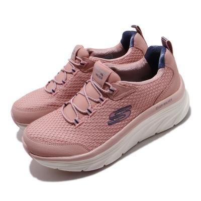 Skechers 休閒鞋 D Lux Walker 戶外 健走 女鞋 郊遊 踏青 微增高 記憶型泡棉鞋墊 粉 米 149004ROS