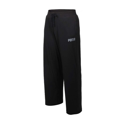 PUMA 女基本系列MODERN BASICS羅紋寬褲-歐規 長褲 休閒 58593801 黑灰