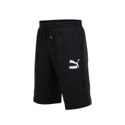 PUMA 男 流行系列Logo短褲 黑白