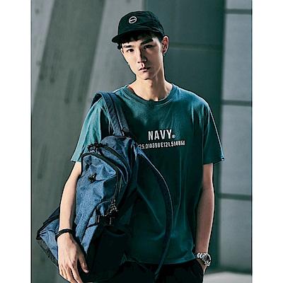 NAVY-MIT品牌基礎文字短T-情侶款(三色)-男【SNA083】