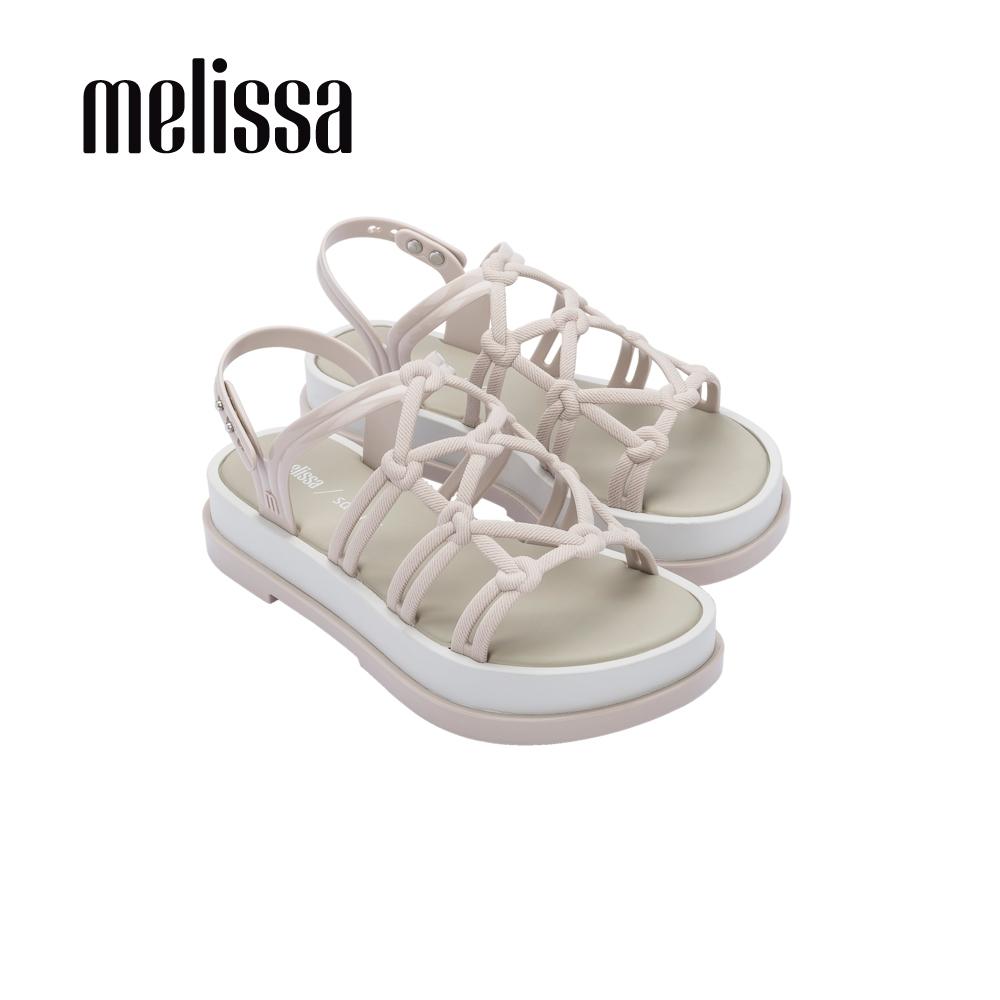Melissa x Salinas聯名 波西米亞風厚底涼鞋-杏