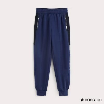 Hang Ten-ThermoContro-童裝色塊機能束口休閒長褲-藍