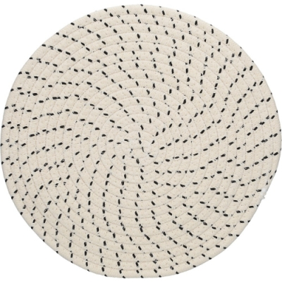 《CreativeTops》棉質編織餐墊2入(黑紋30cm)