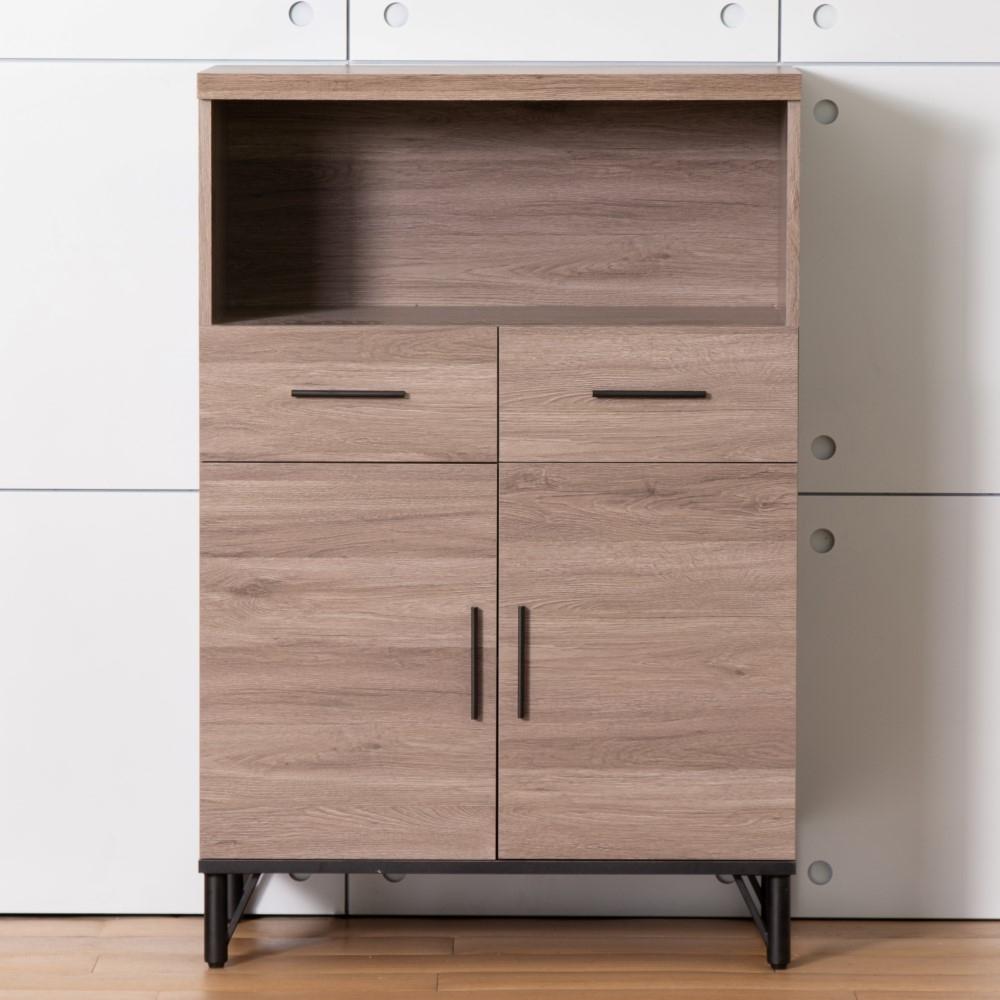 D&T 德泰傢俱 BROOK淺胡桃木4尺高收納櫃 -80x45x120.6 cm