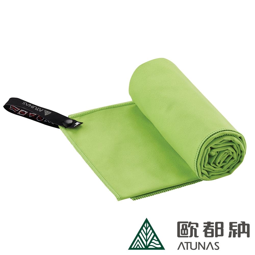 【ATUNAS 歐都納】雙面抗菌吸水毛巾A1ACCC03草綠/附收納盒/運動巾/吸濕快乾