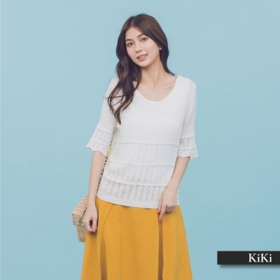 【KiKi】優雅素面-針織衫(三色)