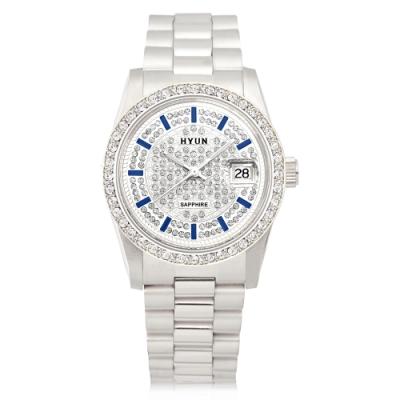 HYUN炫 極致奢華層次鑽石精品錶-金