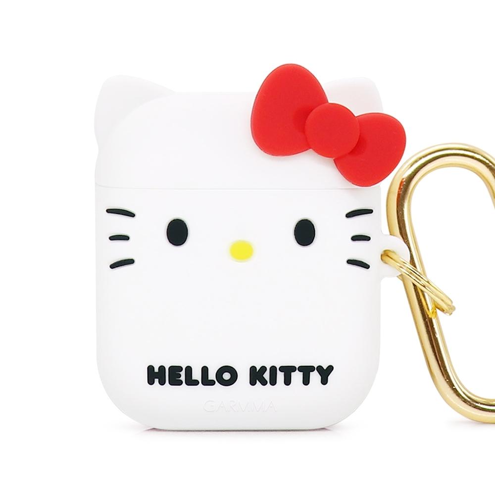 GARMMA Hello Kitty AirPods 1&2代藍牙耳機盒保護套 經典白