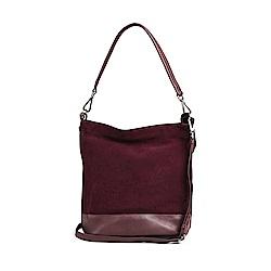 MARKBERG Ulrika 丹麥手工牛皮時尚潮流肩揹包 斜背包/手提包(個性絨紫)