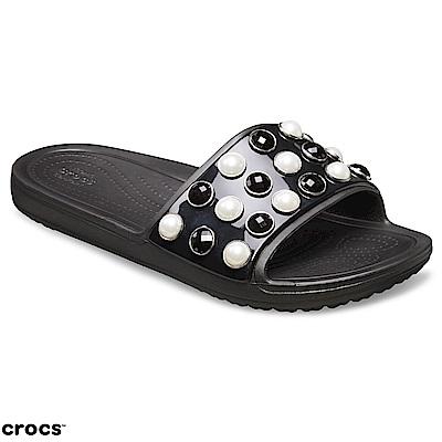 Crocs 卡駱馳 (女鞋) 永恆系列思瓏珍珠涼拖 205440-001