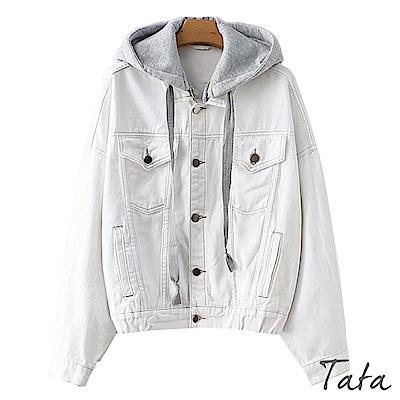 經典白色連帽牛仔外套 TATA