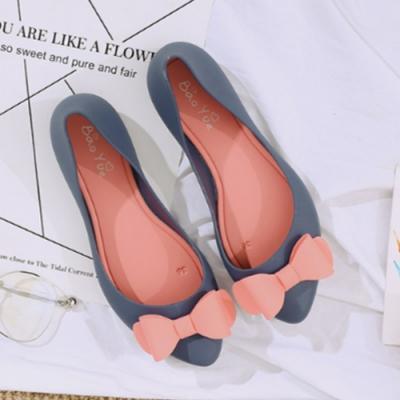 韓國KW美鞋館-夏日風情防水輕量豆豆鞋平底雨鞋 藍