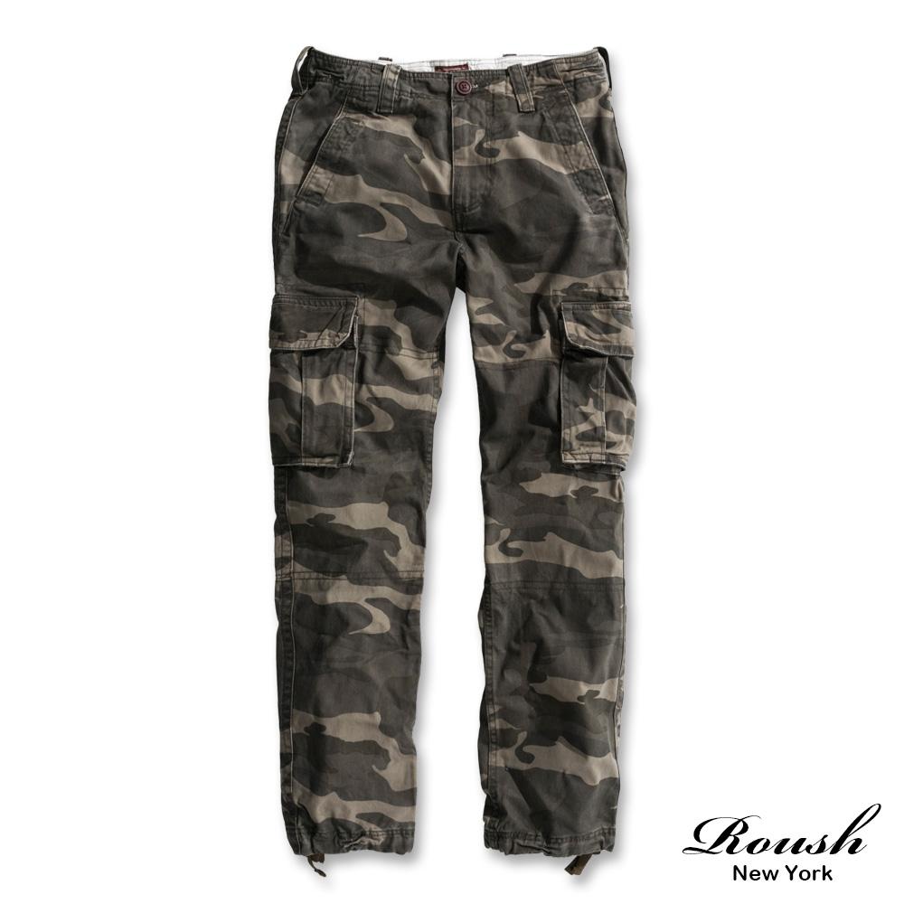 Roush (迷彩)重度水洗高磅數雙口袋工作長褲