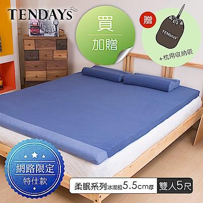 TENDAYS DS柔眠床墊(冰湖藍)標準雙人5尺 5.5cm厚