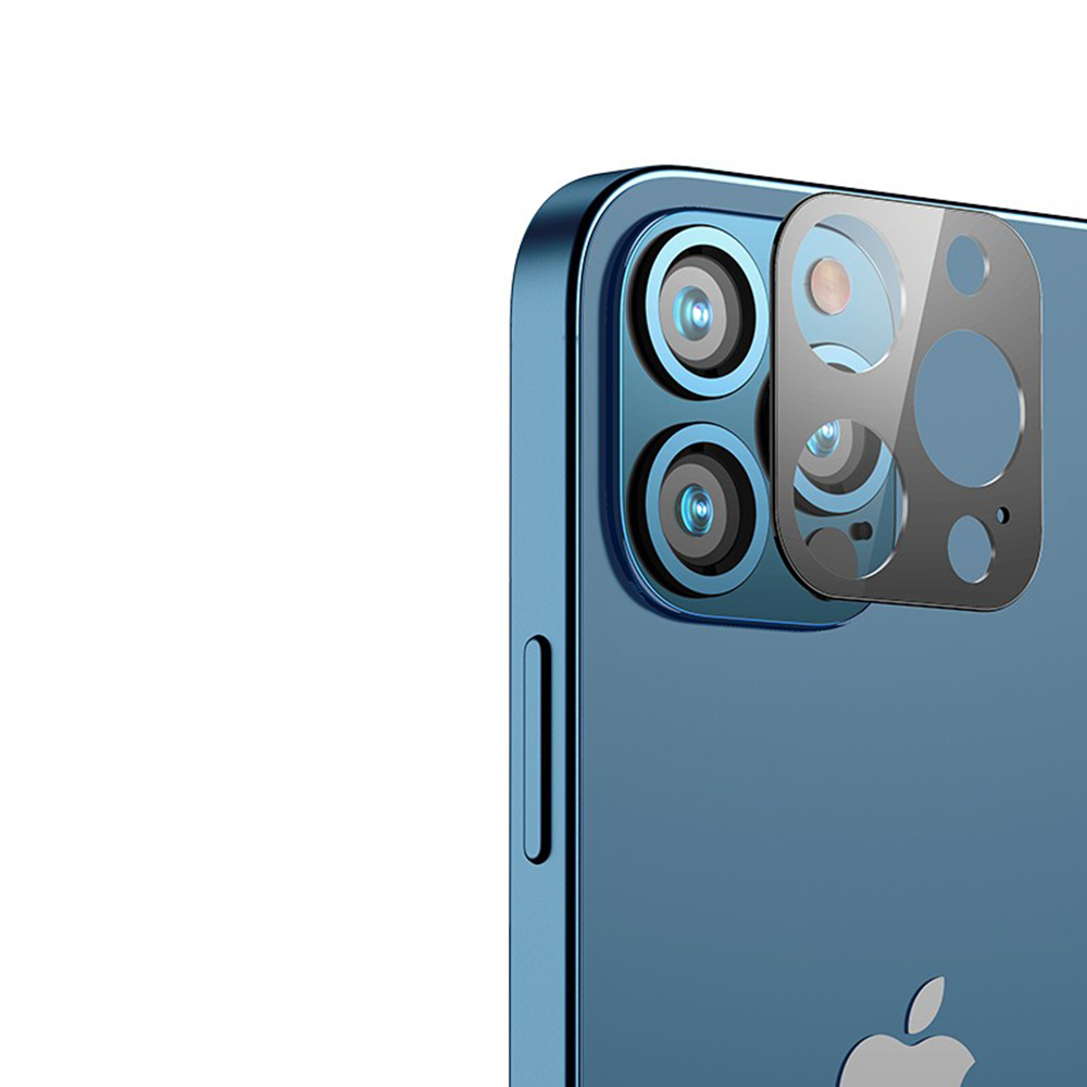 兩組入 iPhone 12 Mini Pro Max 鏡頭貼 鋁合金防爆鋼化膜 高清高透 攝像頭玻璃保護貼 product image 1