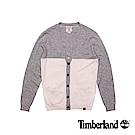 Timberland 男款灰色V領開襟羊毛針織衫