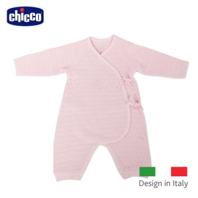 chicco- 心型夾棉肚衣式兔裝-粉
