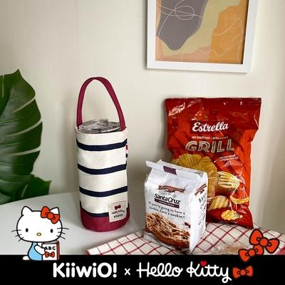 Hello Kitty x Kiiwi O! 聯名款.輕便隨行系列帆布飲料袋 JOYCE (多色選)