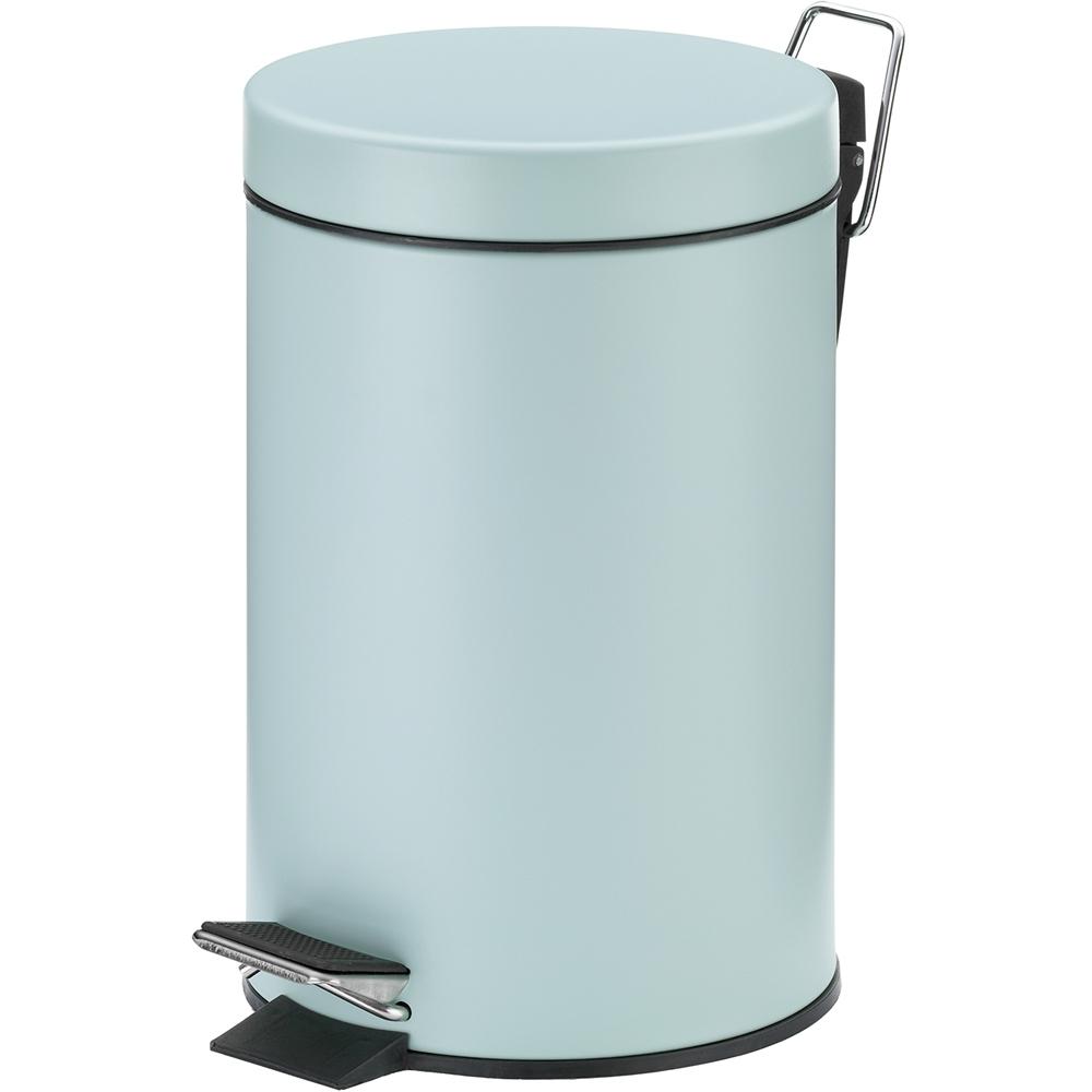 《KELA》簡約腳踏式垃圾桶(藍綠3L)