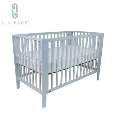 L.A. Baby   現代紐約三合一美式成長大床(附獨立筒床墊+床護欄 )2色