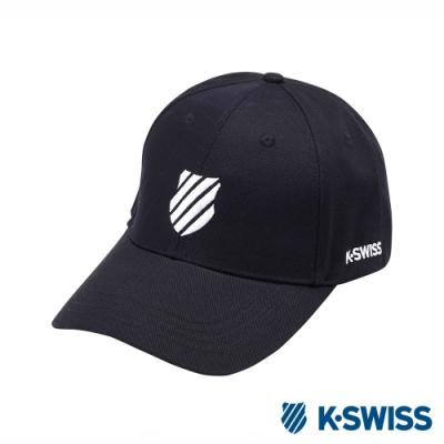 K-SWISS Baseball Caps休閒棒球帽-黑