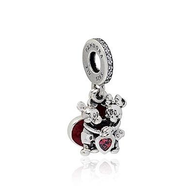 Pandora 潘朵拉 迪士尼系列 米奇米妮愛戀鑲鋯 垂墜純銀墜飾