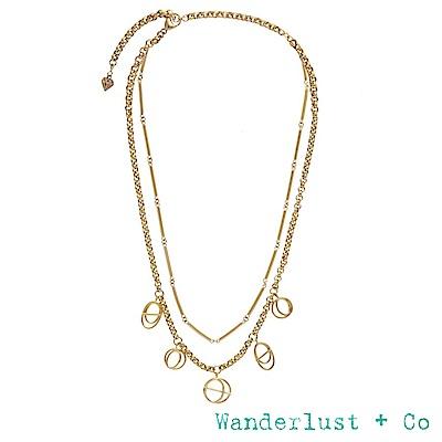 Wanderlust+Co INFUSION系列 星軌鍍18K金雙層次項鍊