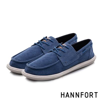 HANNFORT COZY可機洗樂福氣墊休閒鞋-男-海軍藍