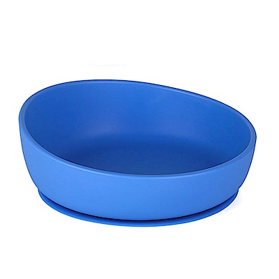 韓國UYOU 兒童矽膠防滑餐碗-寶石藍