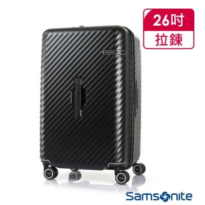 Samsonite新秀麗 26吋 Stem 2/8 開闔PC抗震雙輪SPORT運動箱(黑)