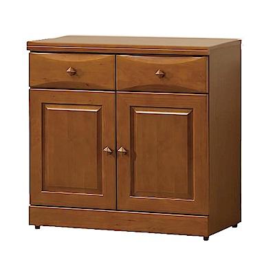 綠活居 薛曼時尚2.7尺實木餐櫃/收納櫃-82x43x81cm-免組