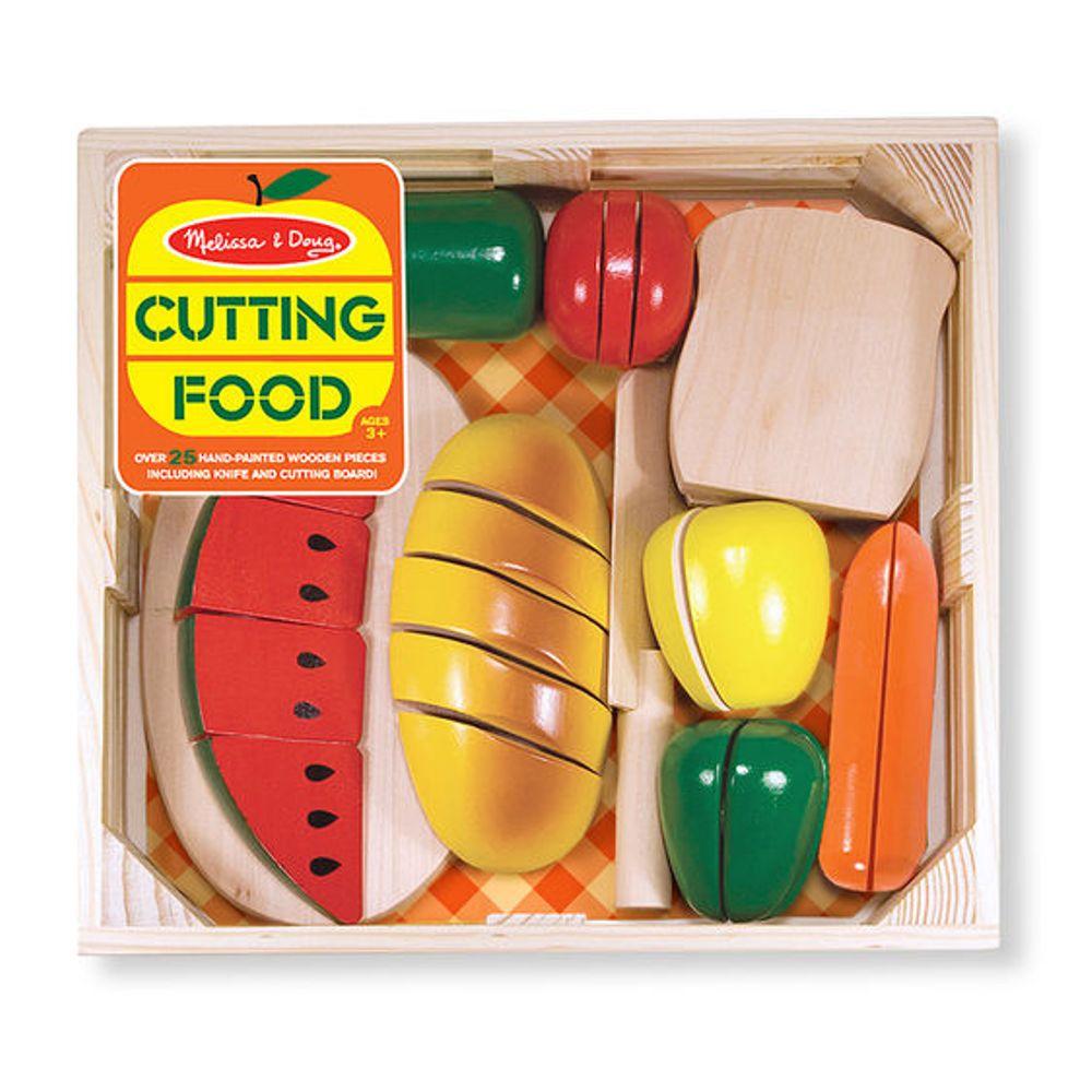 美國瑪莉莎 Melissa & Doug  木製玩食趣 - 切食物玩具組