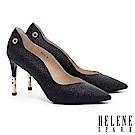高跟鞋 HELENE SPARK 完美曲線奢華金蔥美型尖頭高跟鞋-黑