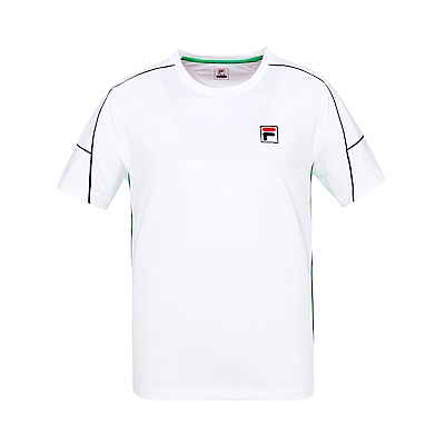 FILA男圓領T恤-白 1TES-5011-WT