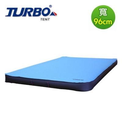 【Turbo Tent】TPU 3D 96cm自動充氣睡墊 10cm厚(四方形更易於拼接 類逗點 充氣床)