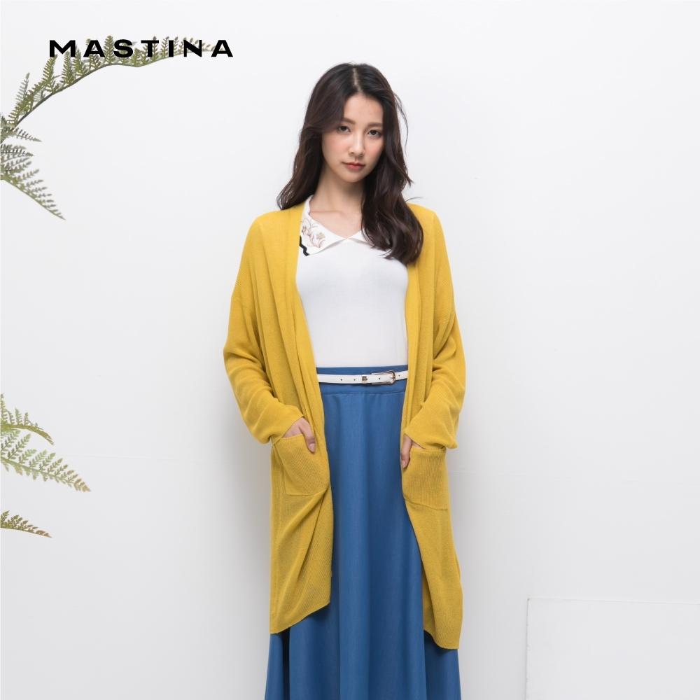 【MASTINA】簡約透氣開襟-針織衫(三色)