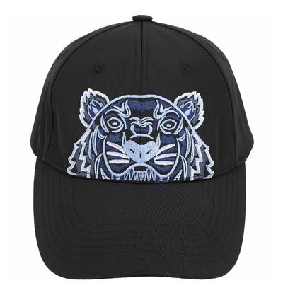 KENZO Tiger Canvas 經典虎頭刺繡圖騰棒球帽(黑藍色)